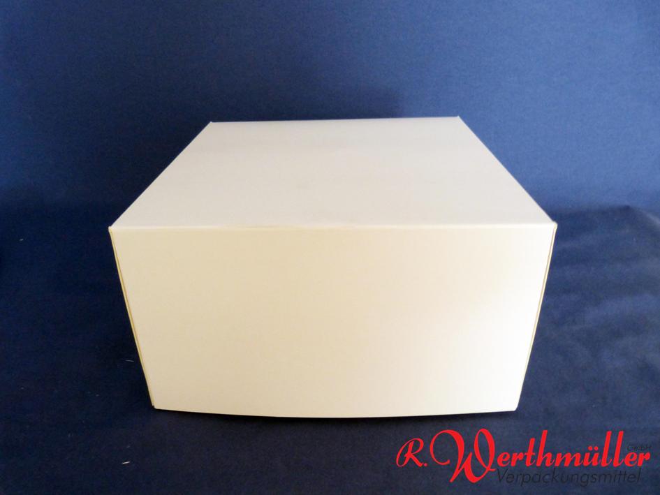 Tortenkartons 23x23x13 cm Weiß