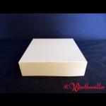 Tortenkartons 18x18x5 cm weiß
