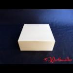 Tortenkartons 14x14x6 cm WEISS