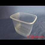 Rechteckbecher natur 500 g transparent