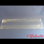 Rollbratenbeutel 15+10x45 cm mit Falte transparent geblockt
