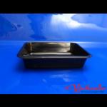 PP-Menüschale schwarz ungeteilt #1231 225x175x45 mm