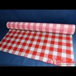 Tischtuchfolie 75 cm x 100 lfdm rot/weiß-kariert