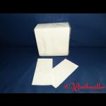 Zelltuch-Servietten 40x40 cm 2-lagig 1/8F  weiß