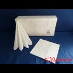 Zelltuch-Servietten 40x40 cm 3-lagig 1/4F weiß