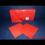 Zelltuch-Servietten rot 40x40 cm 3-lagig 1/4F