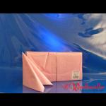 Zelltuch-Servietten rosa (101) 33x33 cm 3-lagig 1/4F