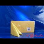Zelltuch-Servietten gelb (108) 33x33 cm 3-lagig 1/4F