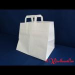 Papier Tragetasche weiß 32x22x25 cm