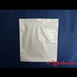 Poly-Tragetaschen weiß DKT 44x50+05 cm