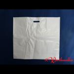 Poly-Tragetaschen weiß DKT 66x60+14 cm