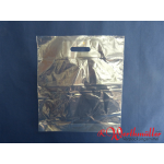 Poly- Tragetaschen transparent 38x45+5 cm