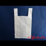 Poly-Hemdchentaschen weiß H6 30+18x55 cm