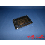 Sushischalen 185x129x20mm schwarz mit Deckel P05-A02