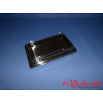 Sushischalen 215x135x20mm schwarz mit Deckel P07-A03