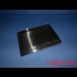Sushischalen 255x185x20mm schwarz mit Deckel P11-A08