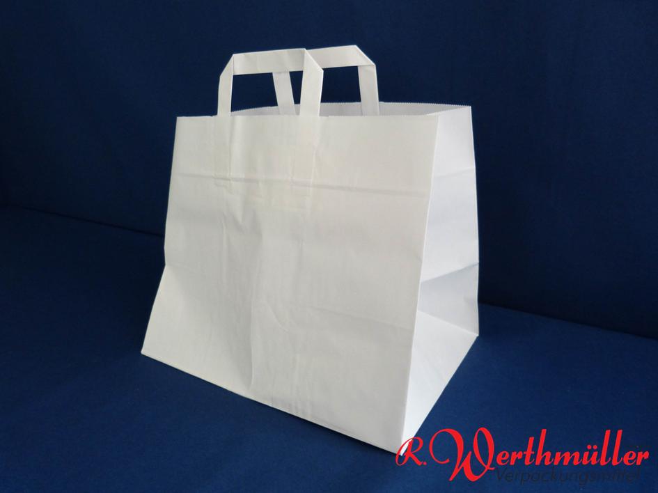 Papier-Tragetaschen weiß 32x22x25 cm