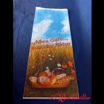 """Bäckerfaltenbeutel  """"ALLES GUTE"""" #8 20+7x48 cm 3-farbig"""