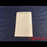 Faltenbeutel weiß Nr. 1  14+6x21 cm  gebleicht Kraft