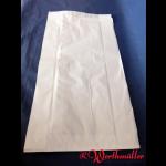 Faltenbeutel weiß Nr. 12  26+10x47 cm  gebleicht Kraft