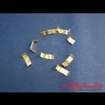 Verschlußklammern gold 8x33 mm