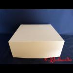 Tortenkartons 32x32x13 cm WEISS
