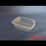 Rechteckbecher natur 125 g transparent