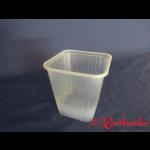 Viereckdosen transparent 500 g