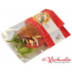 Snack Bag Medium rot fettdicht G7 + Folie