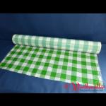 Tischtuchfolie 75 cm x 100 lfdm grün/weiß-kariert