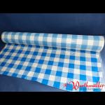 Tischtuchfolie 75 cm x 100 lfdm blau/weiß-kariert