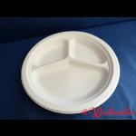 Chinet-Teller rund 3-geteilt 26 cm