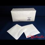 Zelltuch-Servietten 25x25 cm 3-lagig 1/4F weiß