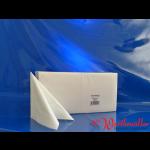 Zelltuch-Servietten 33x33 cm 3-lagig 1/4 F weiß