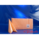Zelltuch-Servietten aprikot (102)  33x33 cm 3-lagig 1/4F