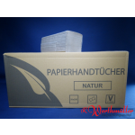 Falthandtücher 1-lagig natur 25x23 cm 5000 Blatt