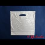 Poly-Tragetaschen weiß DKT 34x35+05 cm