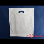 Poly-Tragetaschen weiß DKT 37x44+05 cm