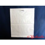 Poly-Tragetaschen weiß DKT 55x60+05 cm