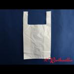 Poly-Hemdchentaschen weiß H5 28+14x48 cm