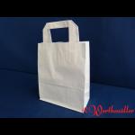 Papier-Tragetaschen weiß 18x10x22 cm
