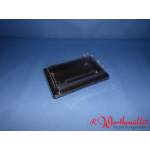Sushischalen 166x115x20mm schwarz mit Deckel P03-A01